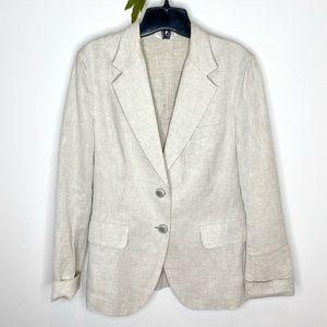 Max Mara Linen 2-Button Blazer